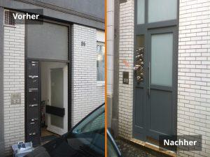 Außentüren Vorher/Nachher